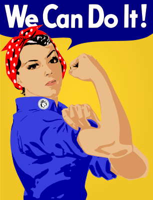 """We can do it!"" by worker"